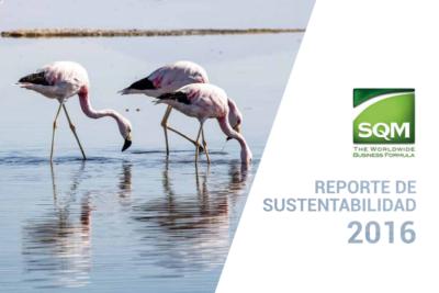 Empresa SQM publica su reporte de sustentabilidad 2016