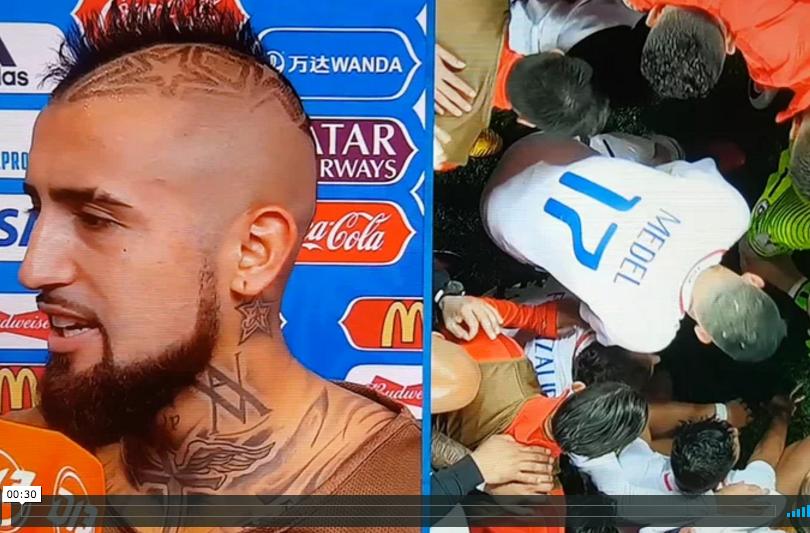 VIDEO  Por eso los amamos: Vidal revela qué dijo Claudio Bravo antes de los penales
