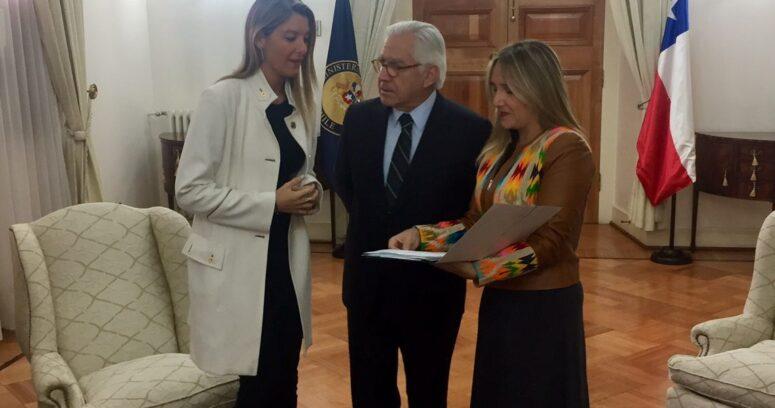 """""""Hoffmann y Sabat llegan a La Moneda a pedir urgencia a Fernández en reformas a Carabineros"""""""
