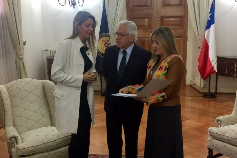 Hoffmann y Sabat llegan a La Moneda a pedir urgencia a Fernández en reformas a Carabineros