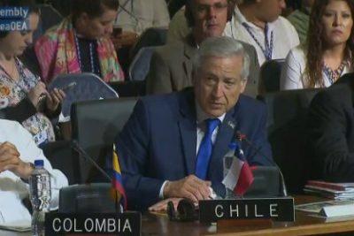 """Heraldo Muñoz en la OEA: """"Hemos desenmascarado la propaganda comunicacional boliviana"""""""
