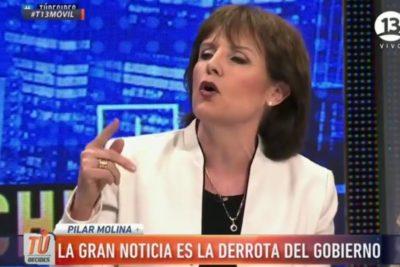 """Ossandón pasa al ataque y acusa """"maniobra política"""" de la periodista Pilar Molina"""