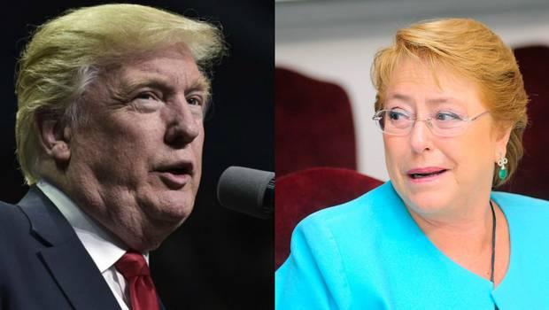 Bachelet habla del cambio climático con palo a Donald Trump por Acuerdo de París