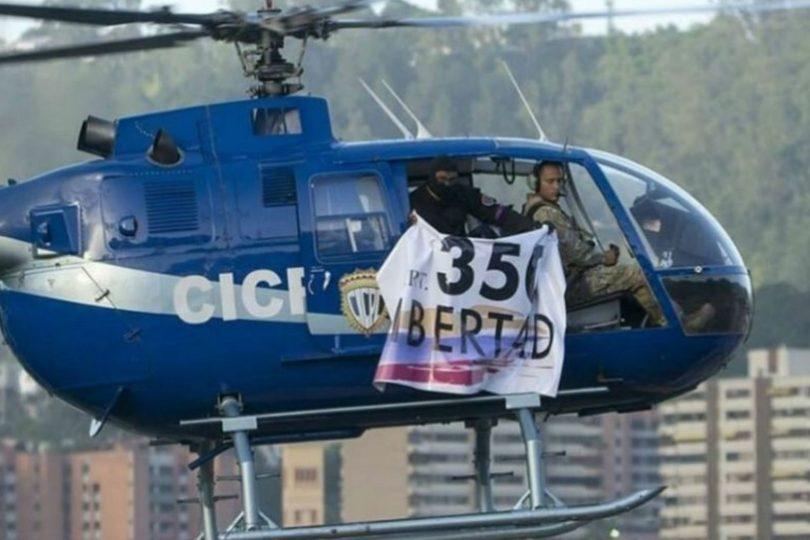 VIDEO   Helicóptero policial lanza granadas contra Tribunal de Justicia pidiendo la renuncia de Maduro