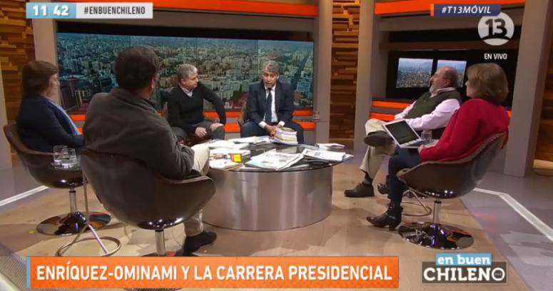 """""""Candidatura permanente"""": la frase que desató duro round entre Iván Valenzuela y ME-O en programa de Canal 13"""