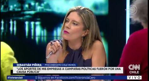 VIDEO | El tenso momento que enfrentó a Sebastián Piñera y Mónica Rincón por platas de CHV