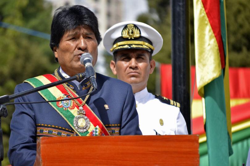 """Evo Morales: """"Parece que la Presidenta Bachelet está secuestrada por la oligarquía pinochetista"""""""
