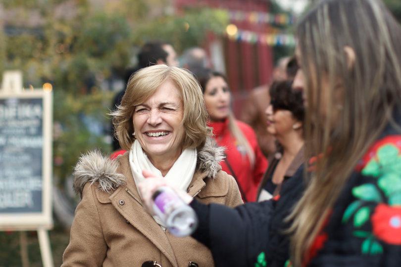 Evelyn Matthei se deshizo en flores a Piñera antes de votar