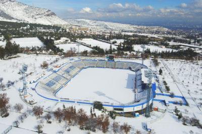 FOTOS |Así luce el estadio San Carlos de Apoquindo a dos días de la nevazón