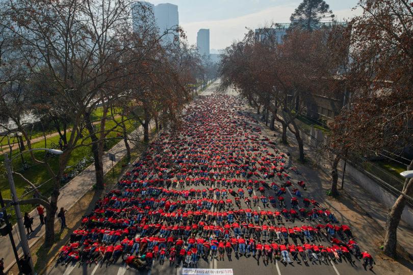 FOTOS |Cerca de 2 mil personas participaron en intervención representando a fallecidos por accidentes de tránsito