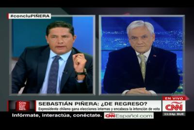 VIDEO   La discusión que protagonizó Sebastián Piñera con conductor de CNN por el Parque Tantauco