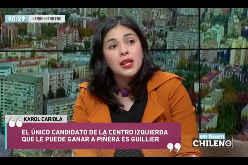 VIDEO  El comentario de Karol Cariola sobre Piñera que fue como un balde de agua fría para Sergio Melnick en Canal 13