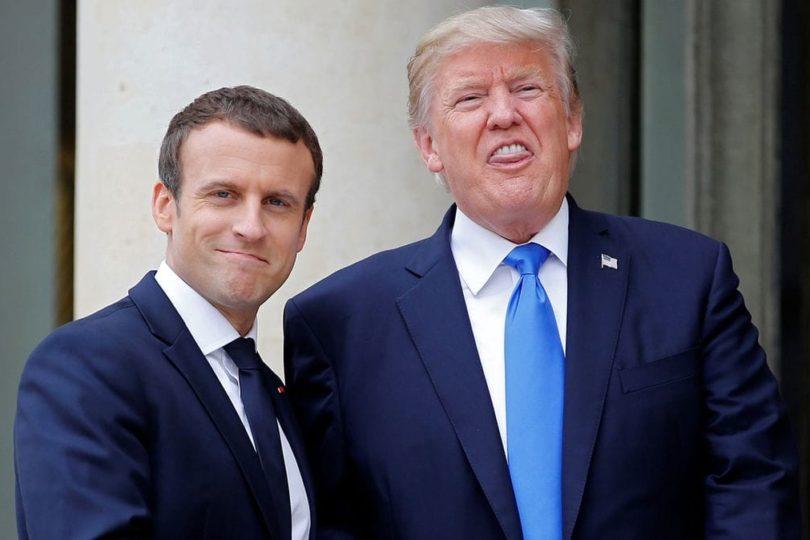 VIDEO | Los 25 segundos más incómodos que le provocó Trump a Macron