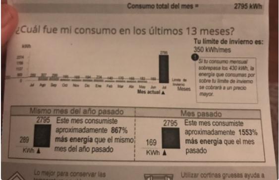 """La insólita respuesta de Enel a cliente por cobrarle 400 mil pesos de más: """"Está todo normal"""""""