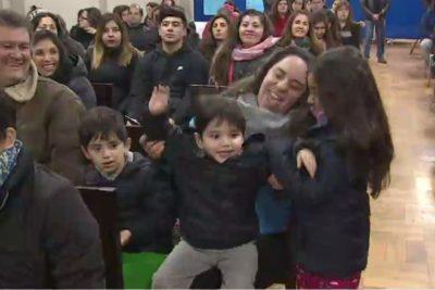 VIDEO | La emoción de un niño que podrá estudiar gracias a la tómbola