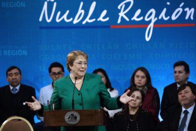 Michelle Bachelet firmará esta tarde decreto que crea la nueva región de Ñuble