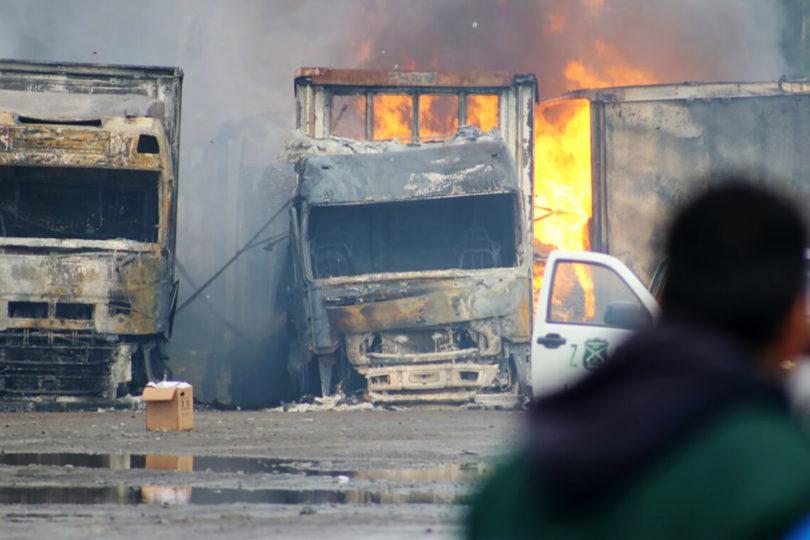 Gobierno recibirá a camioneros tras nuevo ataque incendiario en La Araucanía