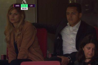 Alexis y Mayte vieron en el estadio la remontada de Arsenal en inicio de la Premier League