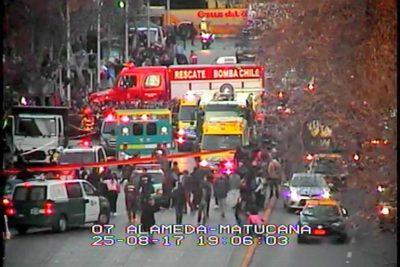 FOTOS+VIDEO   Camión robado provoca atropello múltiple en plena Alameda