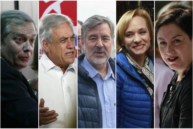 Proyección Tresquintos: Piñera lidera mientras Guillier y Sánchez quedan en empate técnico