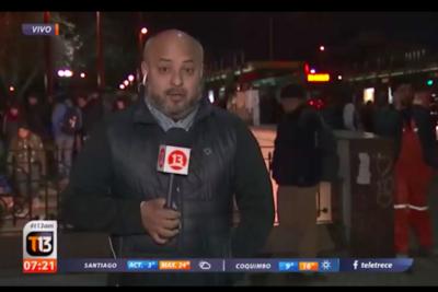 VIDEO   Equipo de Canal 13 sufre robo en despacho en vivo sobre delincuencia