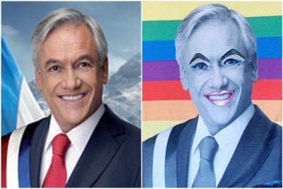 FOTOS |Piñera drag queen: el outfit que se robó las miradas en el Sanfic