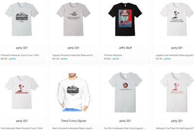 Amazon vende ropa inspirada en vuelos de la muerte de Pinochet
