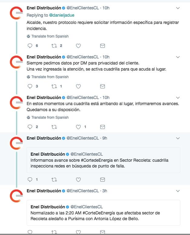 Enel desconoció a alcalde de Recoleta tras reclamo por corte de luz