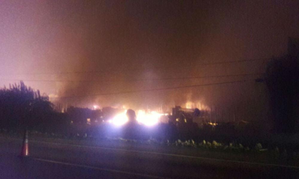 San José de la Mariquina: más de 20 camiones forestales son quemados