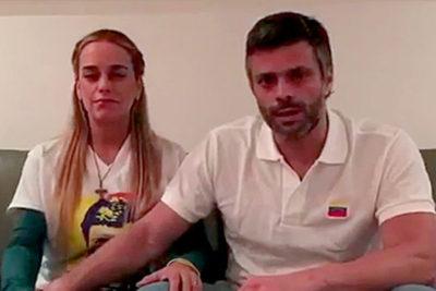 Leopoldo López fue liberado y regresó a su casa para cumplir arresto domiciliario