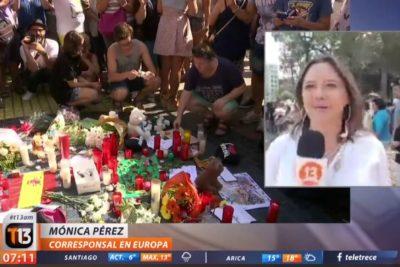 Después de la polémica con TVN, Mónica Pérez reaparece como corresponsal de Canal 13