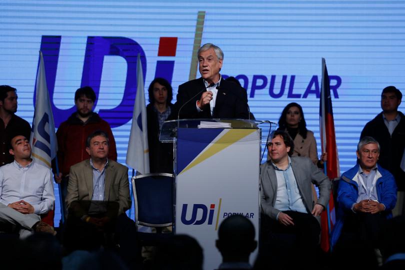 """Piñera llama a """"dejar atrás el mal gobierno de la Nueva Mayoría"""" en Consejo General de la UDI"""
