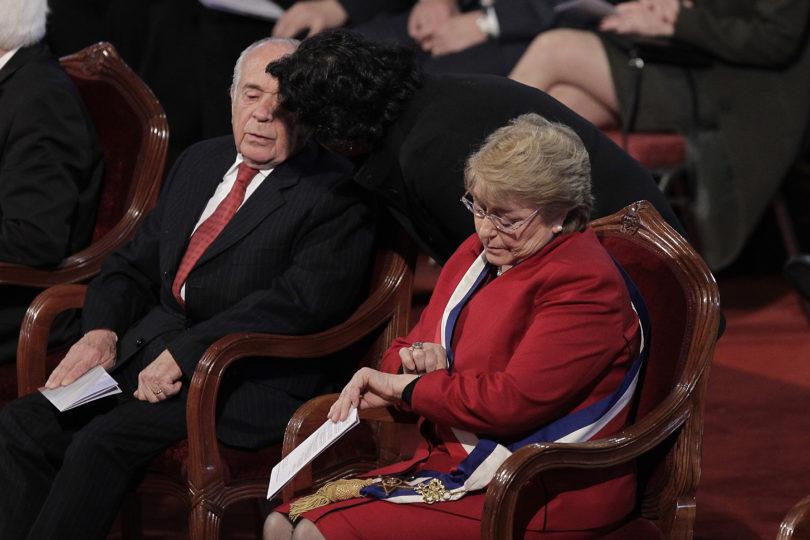 VIDEO | Bachelet se retiró del Te Deum durante el himno y los evangélicos reaccionaron como barrabrava
