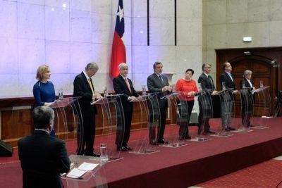 Los ocho candidatos presidenciales se vieron las caras por primera vez en debate ANP