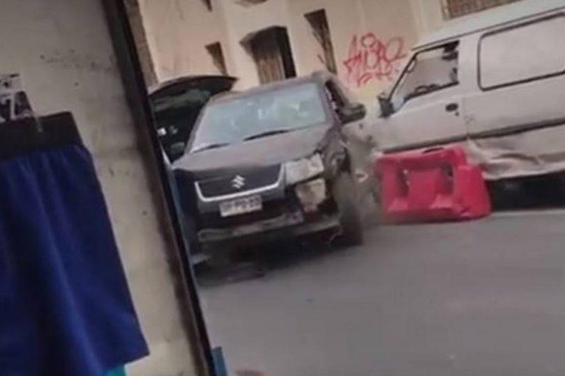 VIDEO | El espectacular intento de huida de una conductora ebria en centro de Santiago