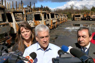 """Sebastián Piñera: """"El Gobierno actúa con debilidad y ambigüedad frente al terrorismo y delincuencia"""""""