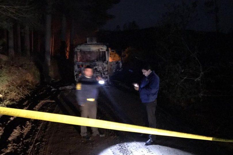 Nuevo ataque incendiario en La Araucanía afectó a cuatro camiones y cinco máquinas forestales