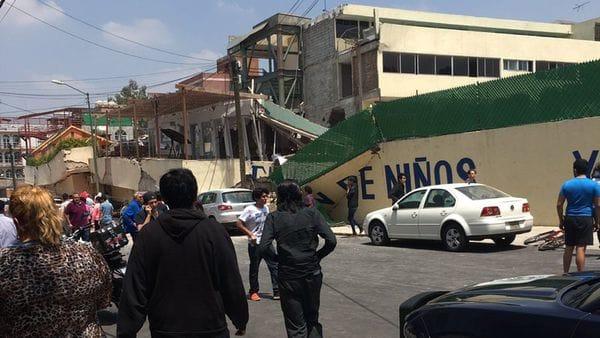 Escuela colapsa por terremoto en México: 21 niños muertos