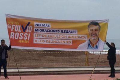 """Fulvio Rossi defiende polémico cartel sobre inmigrantes ilegales: """"Critican desde la comodidad de su living"""""""
