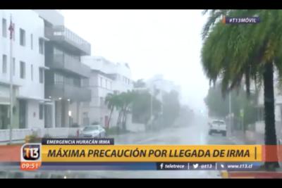 VIDEOS  Alerta máxima: así llegó el Huracán Irma al estado de Florida en categoría 4