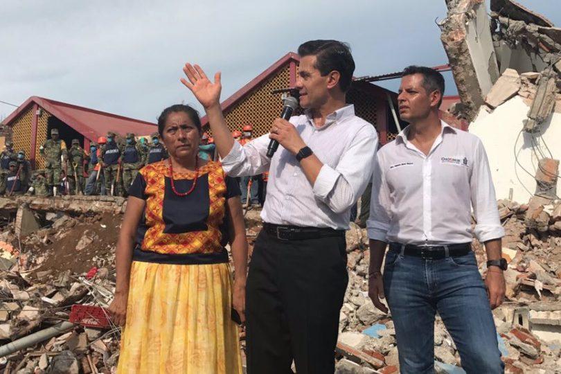 Peña Nieto decreta duelo nacional por las víctimas del terremoto 8,2 grados que afectó a México