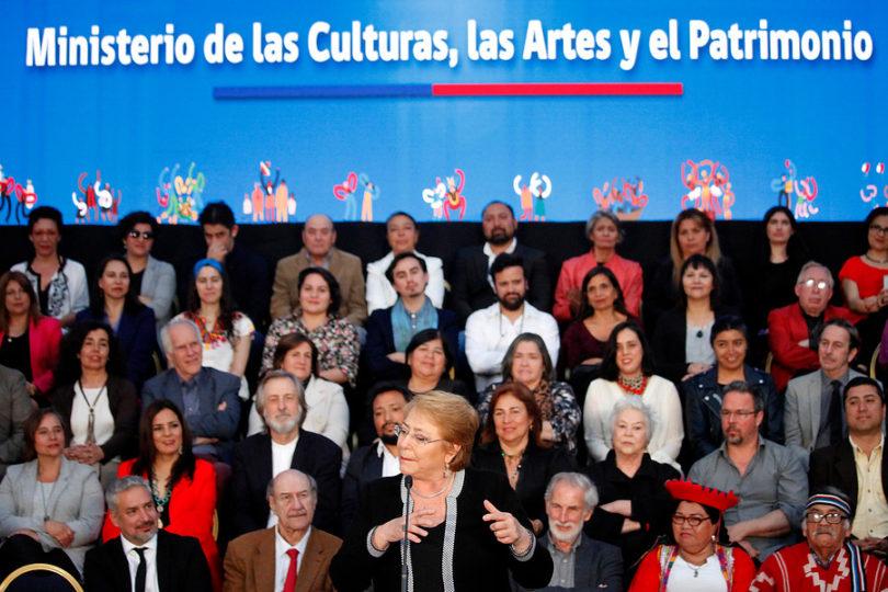 Presidenta Bachelet promulga ley que crea el Ministerio de las Culturas, las Artes y el Patrimonio
