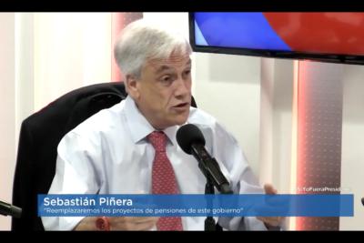 """Piñera sobre plebiscito No + AFP: """"En Cuba hacen plebiscitos en que el 99,9% apoya a los Castro"""""""