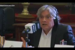 Alejandro Navarro no se arrepiente por las monedas y lanza frase que pocos escucharon tras debate