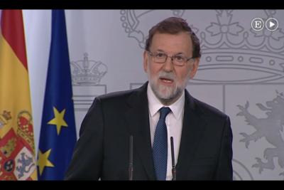 """Mariano Rajoy destituye al presidente de Cataluña para """"restaurar el orden constitucional"""""""