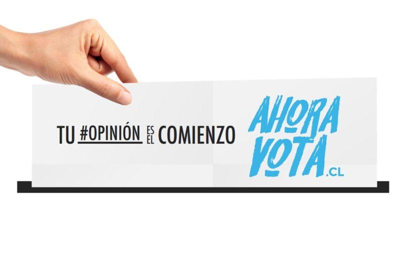 ¡Ahora Vota!: campaña busca fomentar la participación electoral en Chile