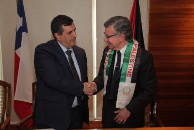 Las Condes y Belén firman acuerdo de hermanamiento