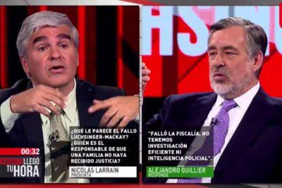 El cara a cara entre Alejandro Guillier y Nicolás Larraín por el caso Luchsinger Mackay