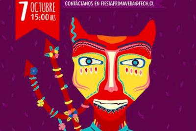 Estudiantes reviven tradicional Fiesta de la Primavera en Santiago con actividades culturales