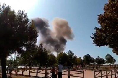 VIDEO l Caza Eurofighter español se estrelló tras actividades del 12 de octubre